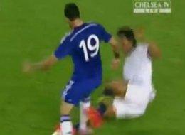 WATCH: Costa Survives Horrific Two-Footed Alves Challenge (Vine)