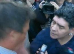 The Hand Of God Is At It Again: Maradona Slaps A Journalist (Vine)