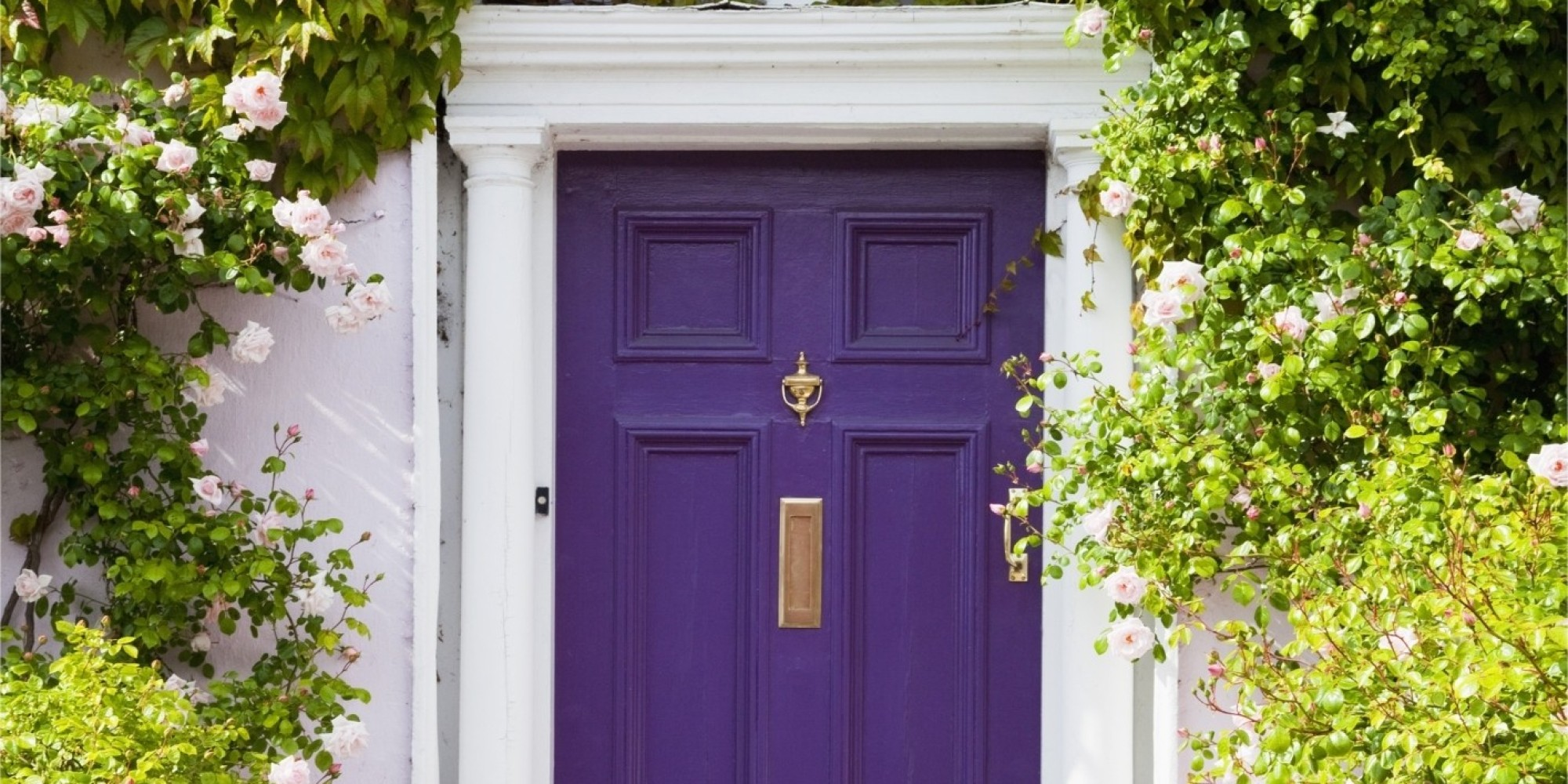 1000 #4D5E11 The 3 Things Homes With Great Curb Appeal Have In Common HuffPost wallpaper Purple Front Doors 47052000