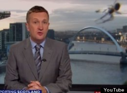 Watch The Moment BBC Scotland News Was Videobombed By A Giant Spider