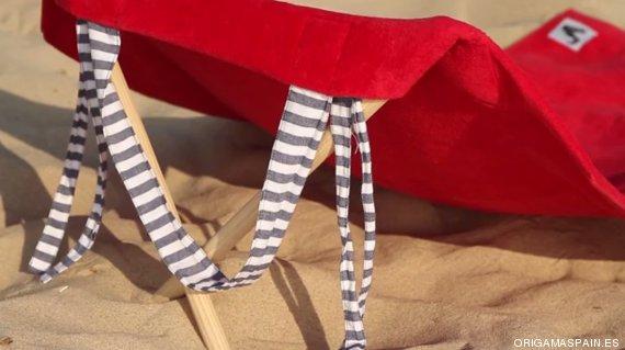 Cinco inventos curiosos que puedes encontrar en la playa - Toalla con respaldo ...