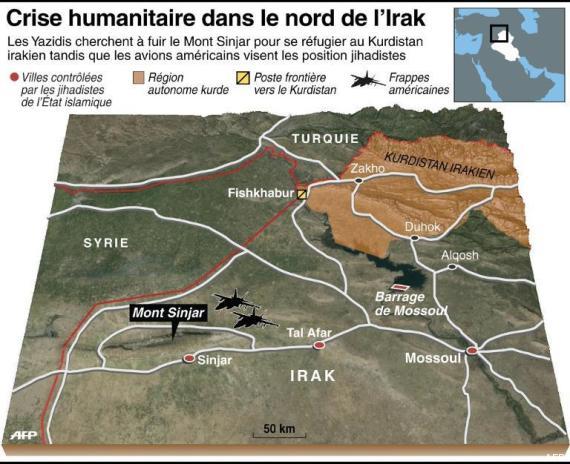 carte nord irak