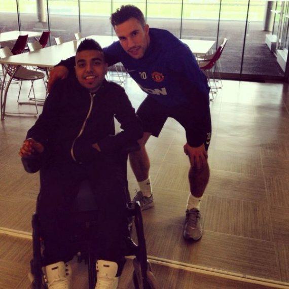 manchester united wheelchair bound coach