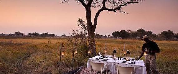 BOTSWANA AFRIKA AFRICA DINNER STARS