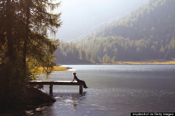 breathing fresh air mountains