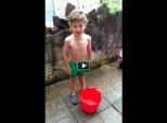 This 6-Year-Old Did The Ice Bucket Challenge For His Mum In Hospital