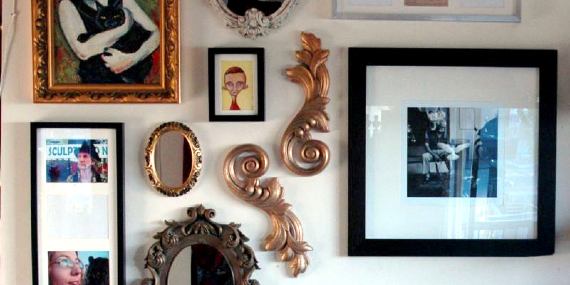 learn to hang wall art in less than  minutes  huffpost -