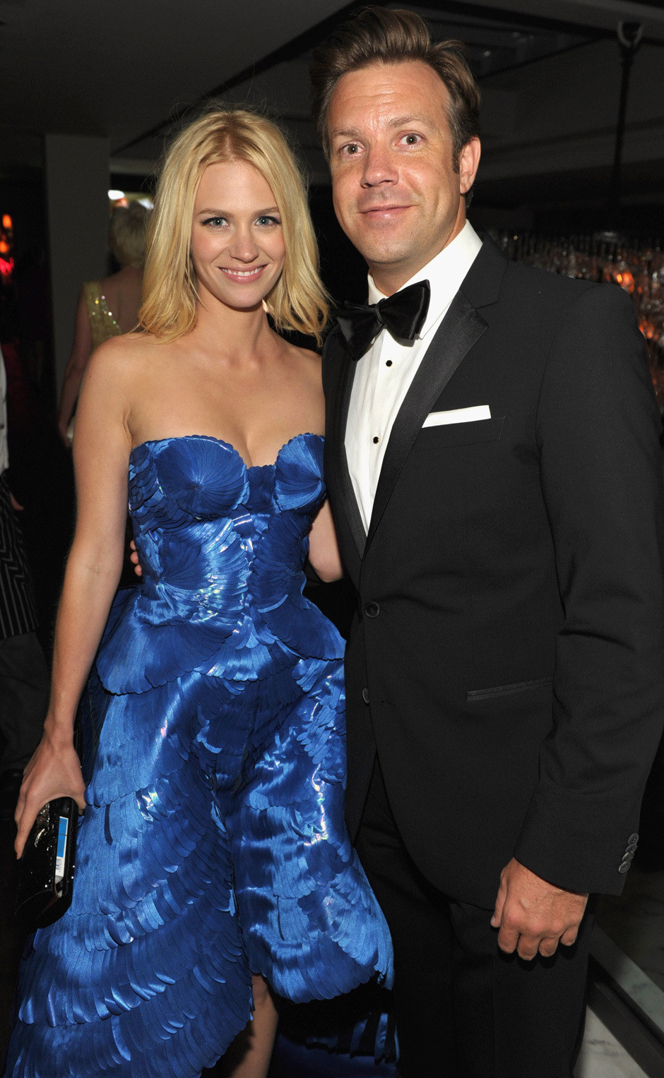 January Jones Amp Jason Sudeikis Together Emmy Weekend