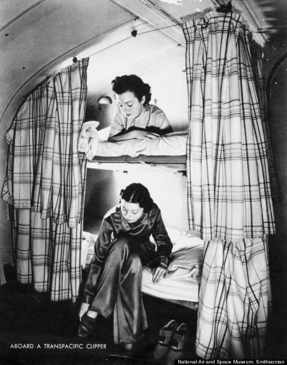 bunk beds in flight