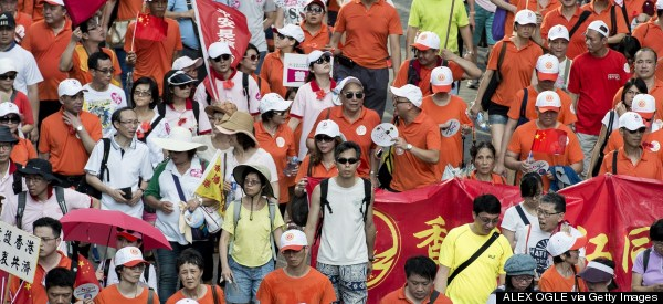 Tens Of Thousands Stage Pro-Government Rally In Hong Kong