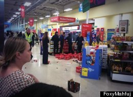 #FreeGaza Protest At Tesco Sees Arrest As Stock Is Hurled To The Ground