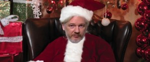 Juilian Assange Father Christmas