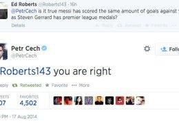 Čech Trolls Gerrard During Twitter Q&A