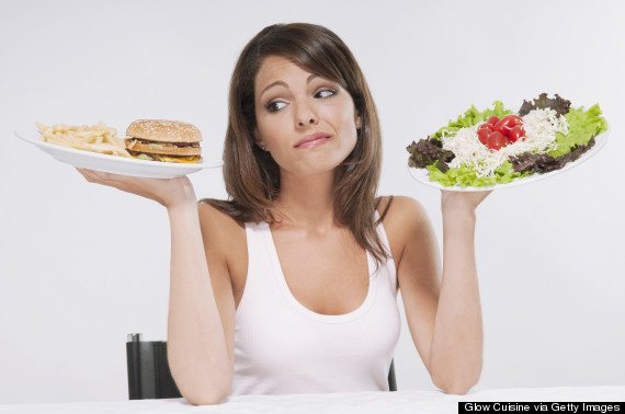 woman fast food healthy