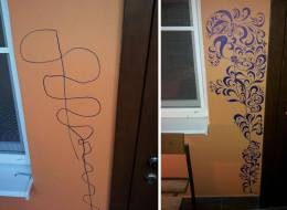 One Brilliant Way To Turn A Child's Wall Scribble Into Actual Art