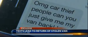 Car Thief Text Message