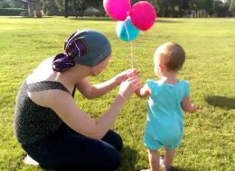 Toddler Bids Farewell To Her Pacifier In An Adorable, Balloon-Filled Ceremony