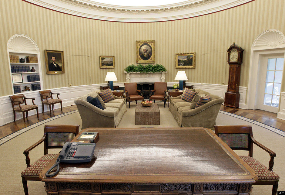 Oval Office Makeover Photos Video Huffpost