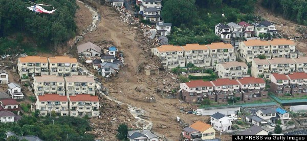 Pictures Reveal Incredible Devastation In Hiroshima After Deadly Landslide