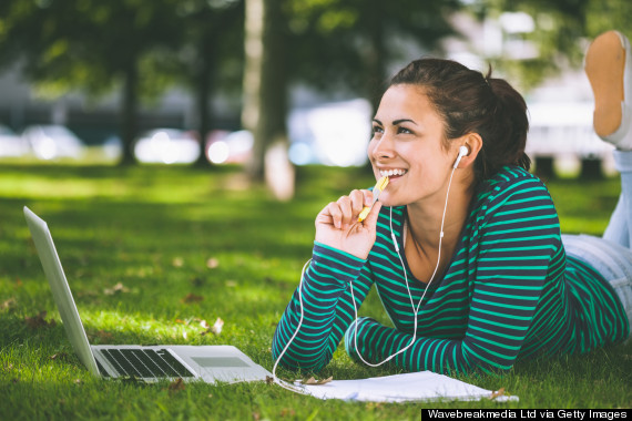 listening to music on computer
