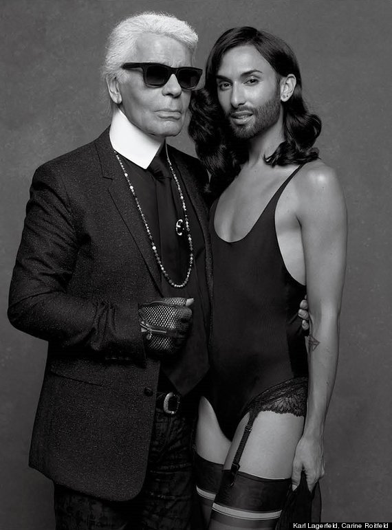 Conchita Wurst Shot By Karl Lagerfeld For New Issue Of Cr Fashion Book Photos Huffpost