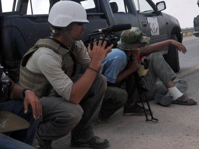James Foley filming in Libya