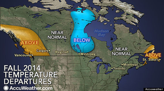 fall weather forecast canada