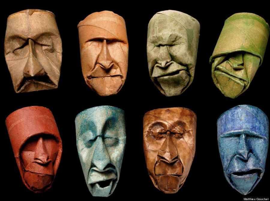 these wonderful whimsical toilet paper roll faces prove