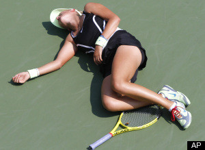 Victoria Azarenka Collapse