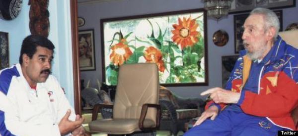 FIDEL CASTRO Y MADURO SE REÚNEN EN LA HABANA