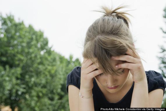 woman distressed