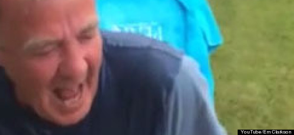 Jeremy Clarkson Gets Soaked In Ice Bucket Challenge