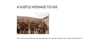 Letter To Isis