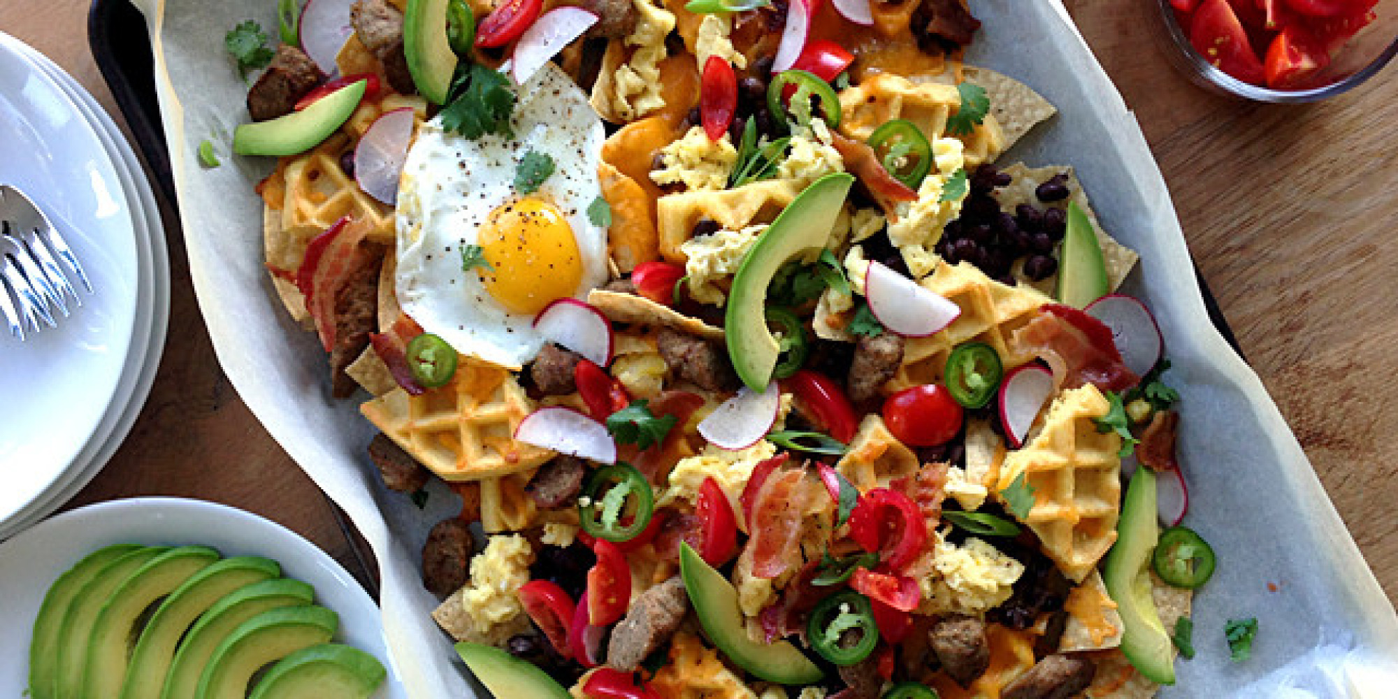 Breakfast Waffle Nachos Confirm That The World Is An Amazing Place