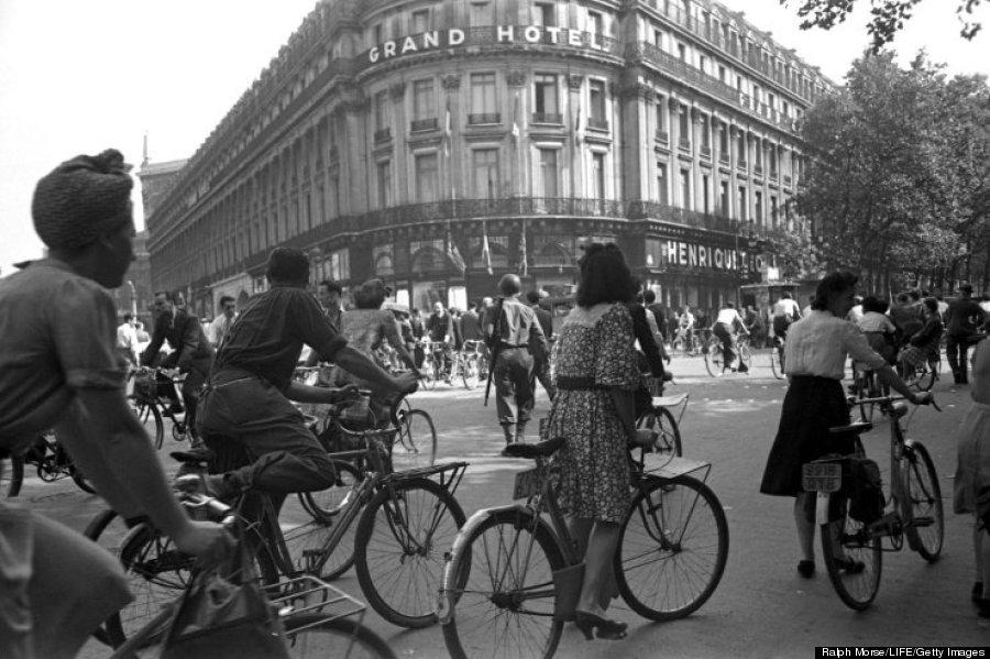 paris liberation bicycles