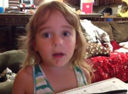 Despite Strong Evidence, Little Girl Insists She Did Not Eat A Doughnut