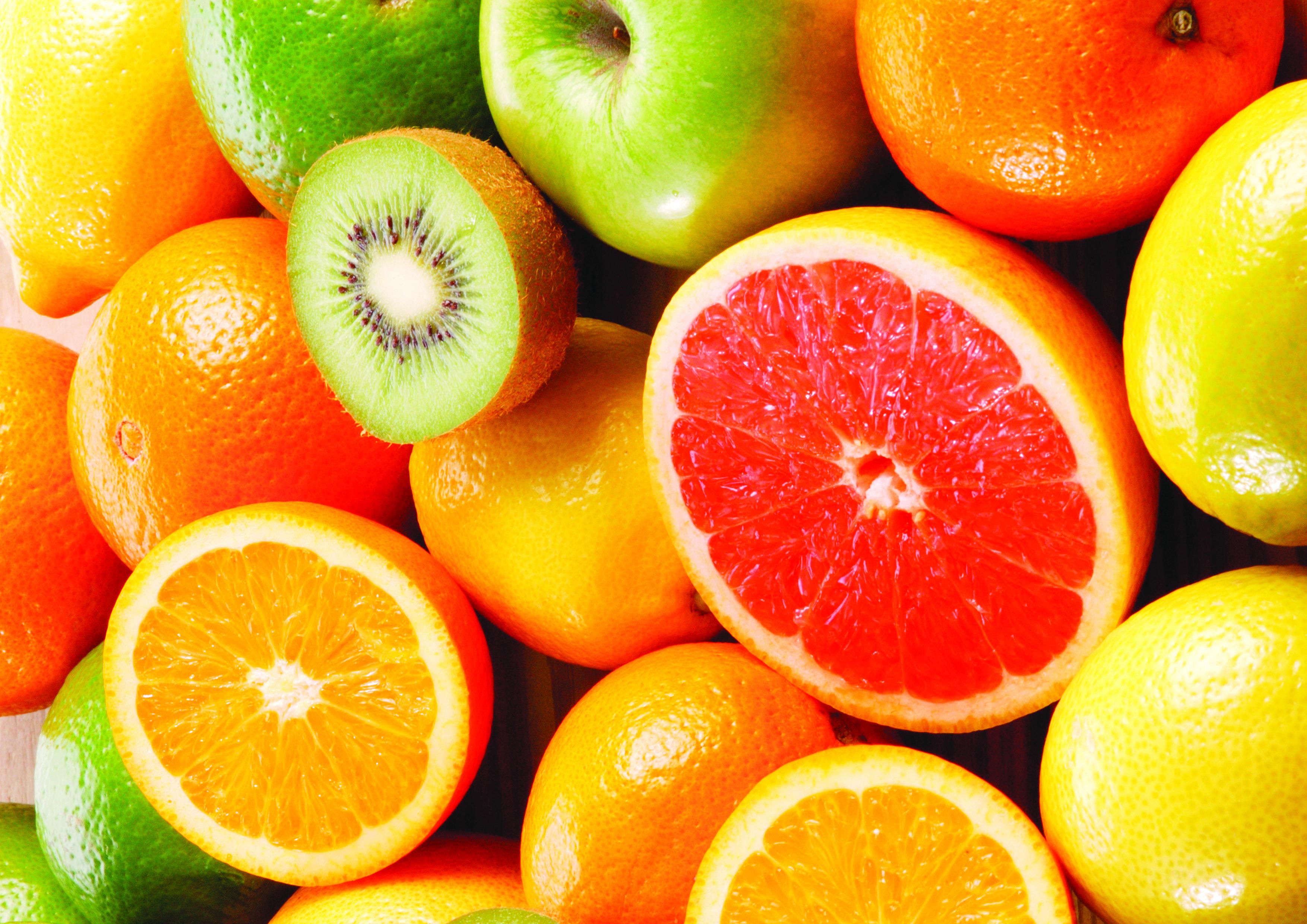 kiwis y naranjas