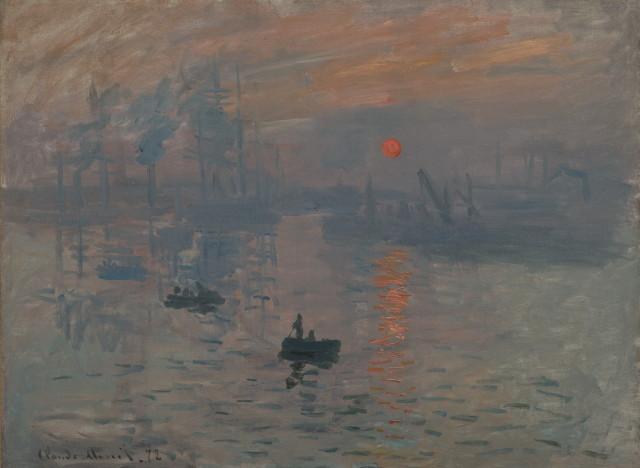 [Peinture] ♦ Impression de soleil levant par Monet A-MONET-IMPRESSIONNISME-640x468