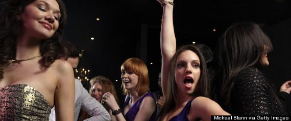women dancing dresses party