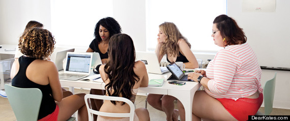 r DEAR KATES large570 dear kate' ad features woman tech execs in their underwear huffpost,Womens Underwear Explained