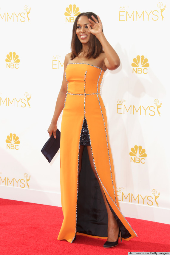 Kerry Washington's Emmy Dress 2014 Proves Orange Really Is ...