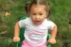 Little girl preparing for ice bucket challenge | Pic: YouTube
