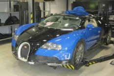 Bugatti in garage | Pic: Axa