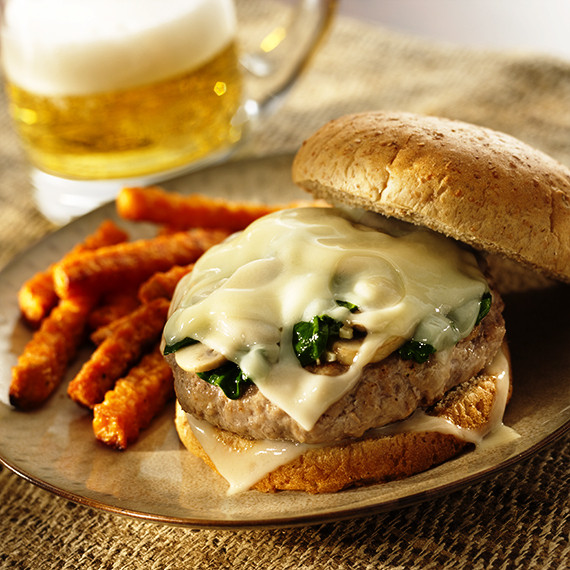 grilled swiss burger
