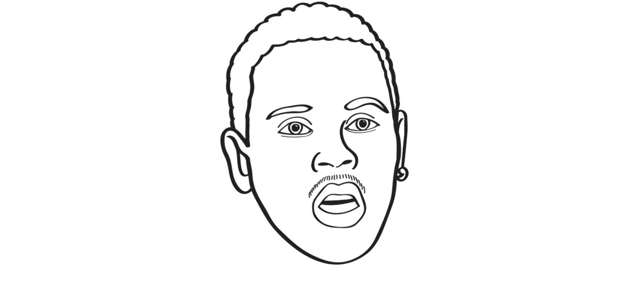chris brown logo coloring pages coloring pages