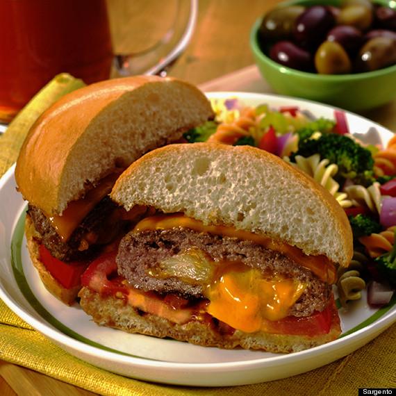 garlic stuffed burger