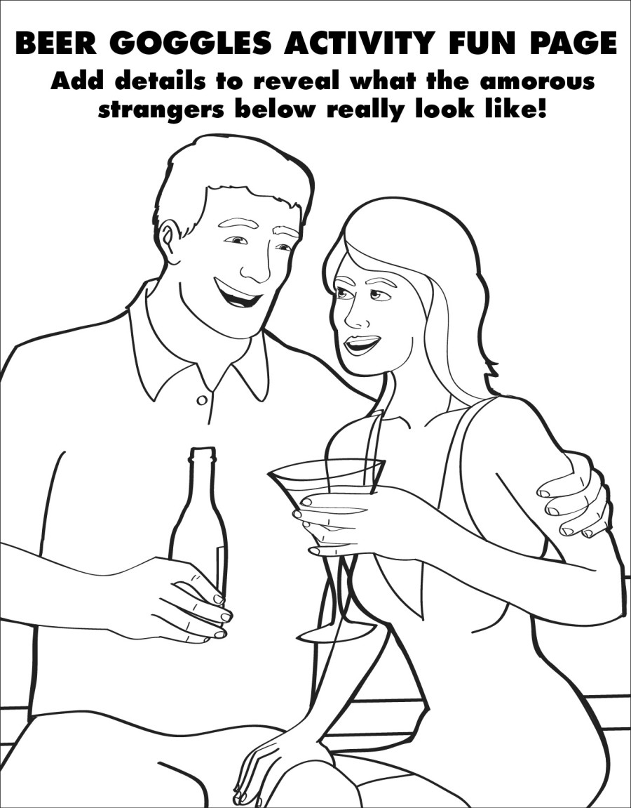 Adults colouring book pages - Beer