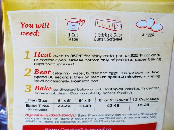 Add Eggs Water Oil Frosting To Box Cake Mix