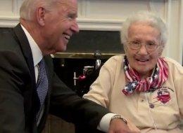 Joe Biden Turns On The Charm For Oldest Living Female Veteran