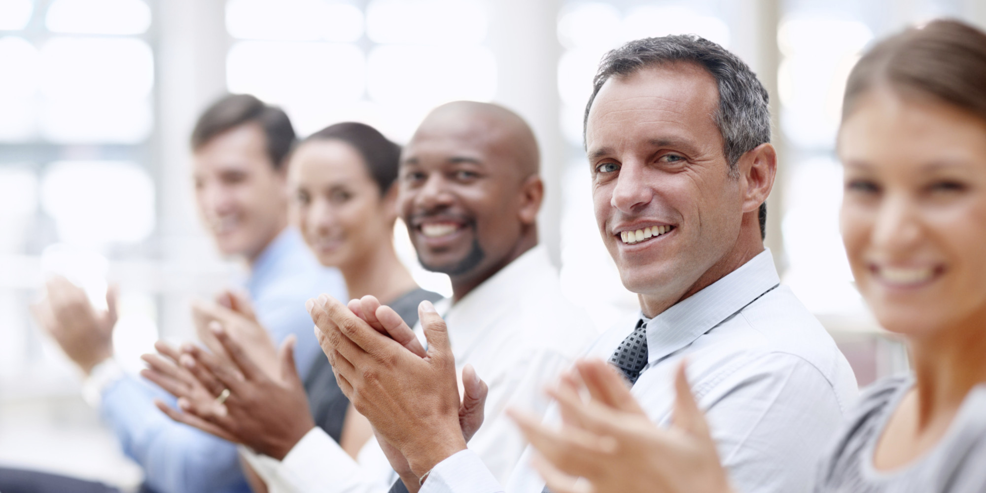 Happy Business Audience How to Connect With th...